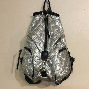 Sondra Roberts silver Backpack. New
